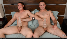 Straight friends shared wanking video
