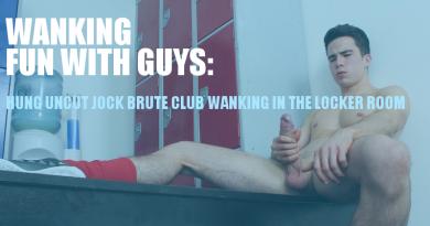 Jock wanking in the locker room