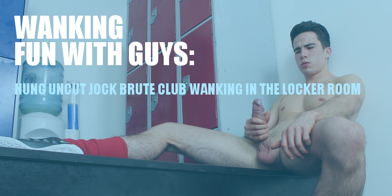 Jock wanking in the locker room
