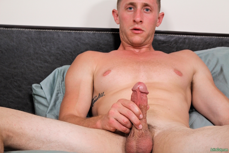 Military cock jack off with new dude Alex 4