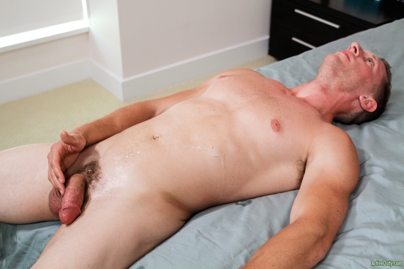 Military cock jack off with new dude Alex 7