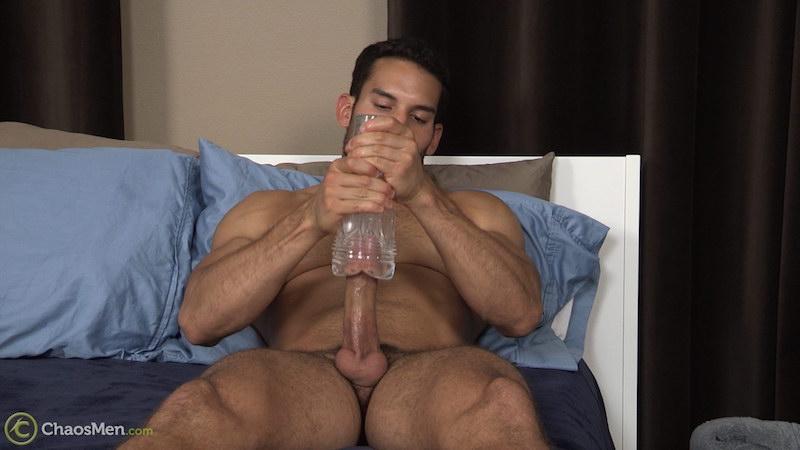 Ricky Decker wanking with a fleshlight 6