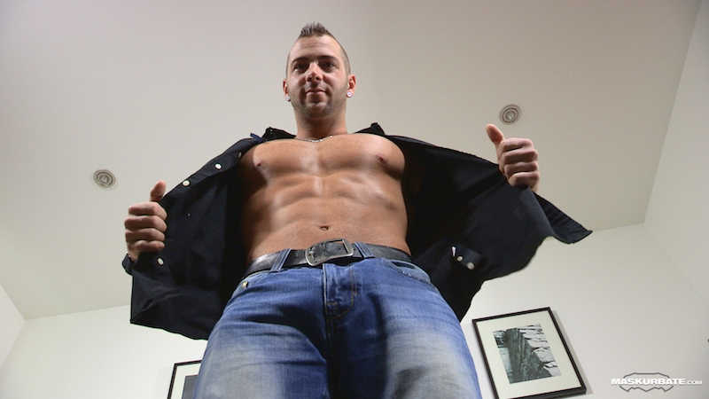 hung straight hunk on video
