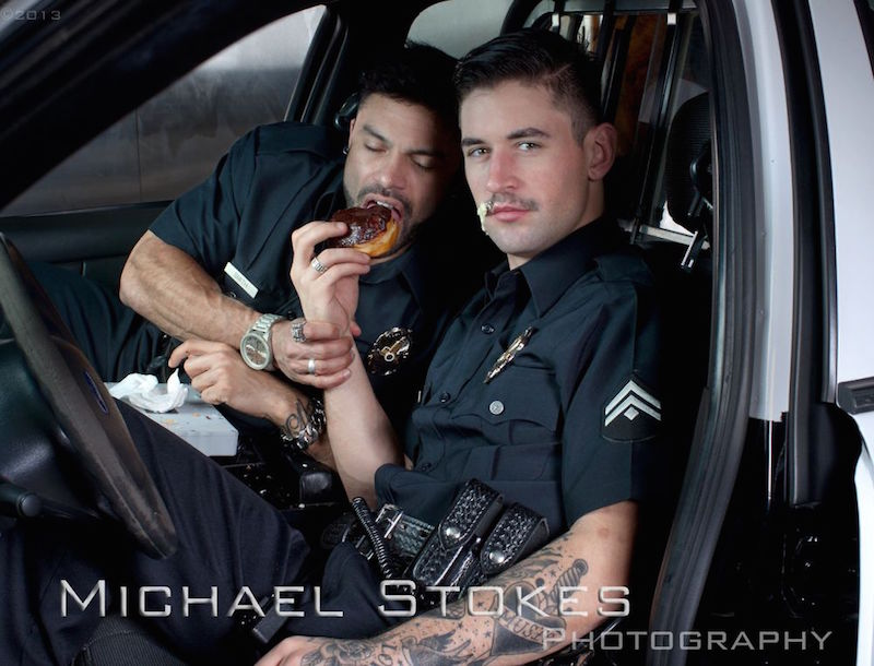 image Cops straight uniform gay sex breaking and