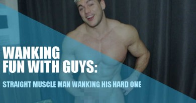 muscle man wanking