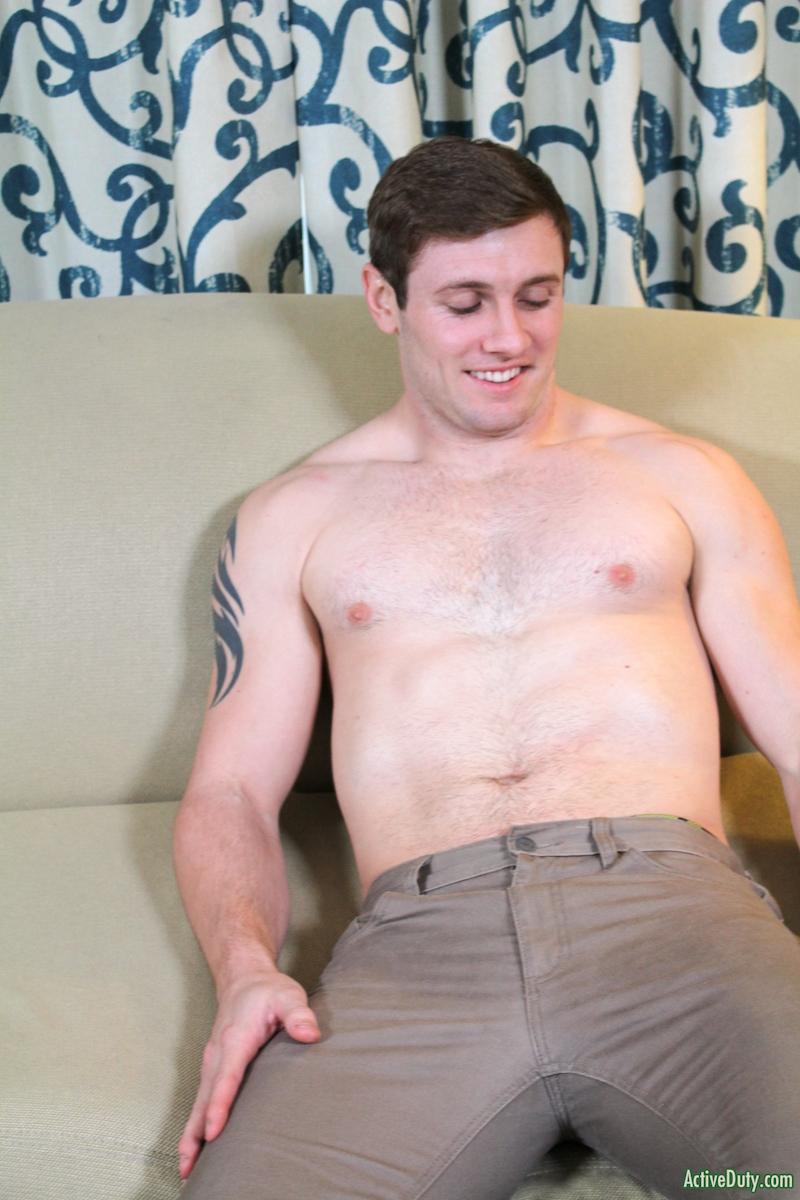 Hunky John wanking his hard jock cock on video for Active Duty 2