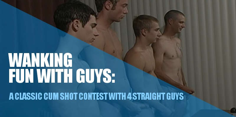 4 straight guys wanking together