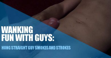 HUNG STRAIGHT GUY SMOKING AND STROKING COCK