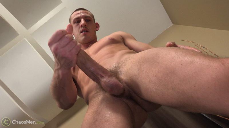 Hung straight guy Kirkland strokes his massive meat 6
