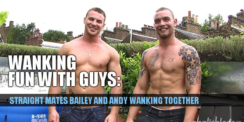 HUNG STRAIGHT GUY ANDY LEE WANKING WITH BAILEY MORGAN