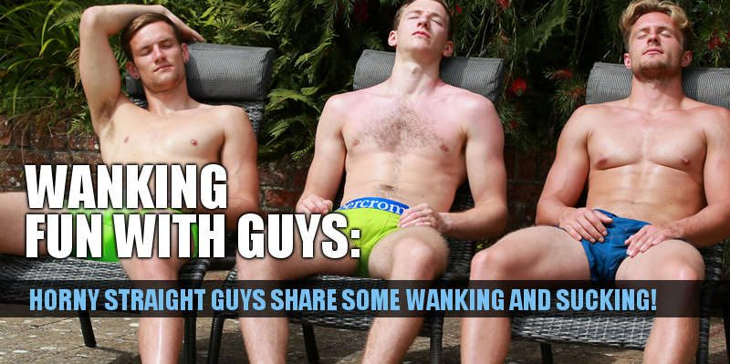 mutual wanking with three straight guys at englishlads