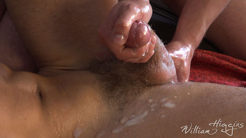 Fit lad Martin Gajda gets his cum wanked out of his uncut cock 12