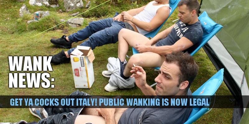 wanking in public