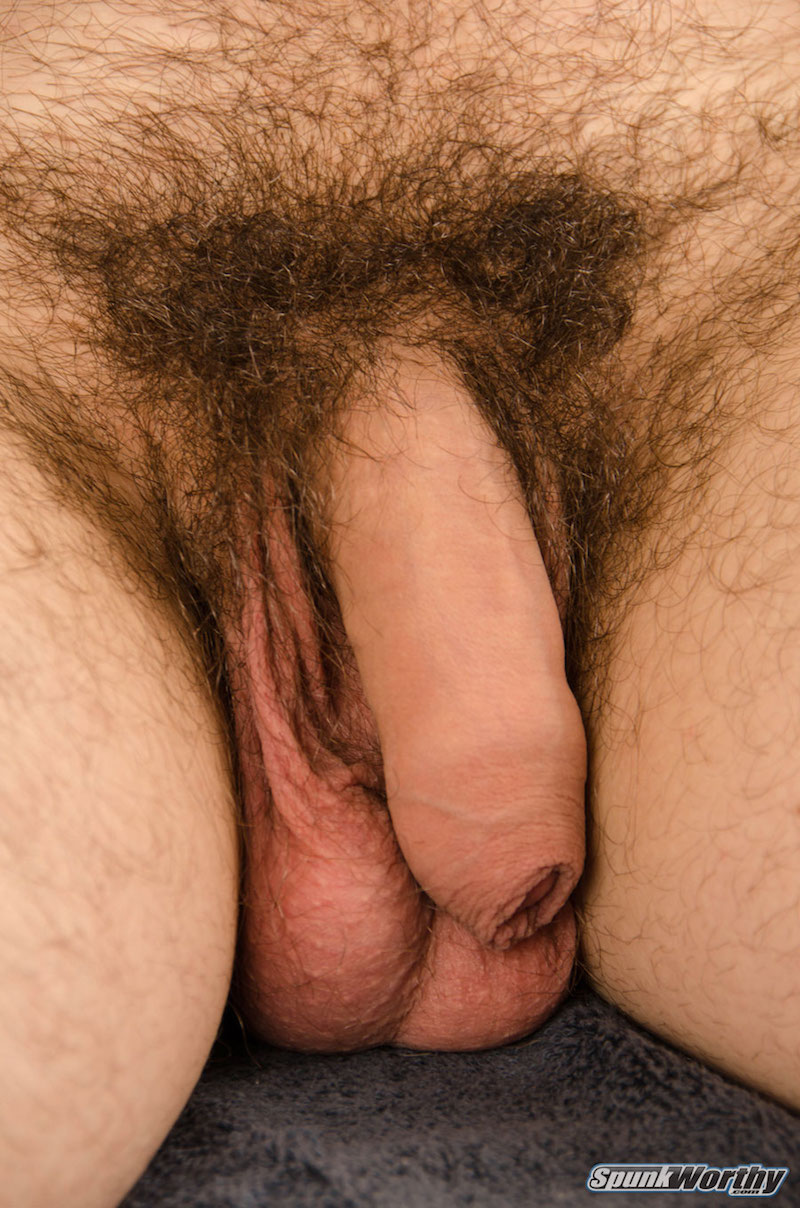 Straight guys soft uncut cock