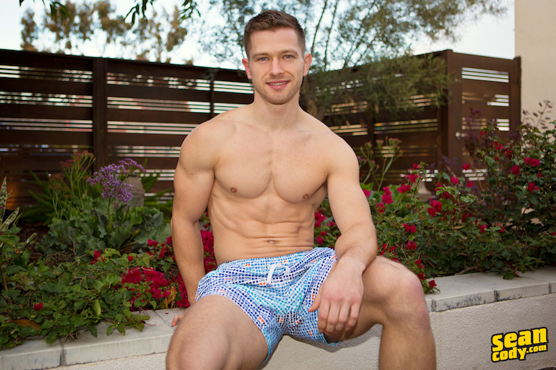 Handsome jock in gay porn
