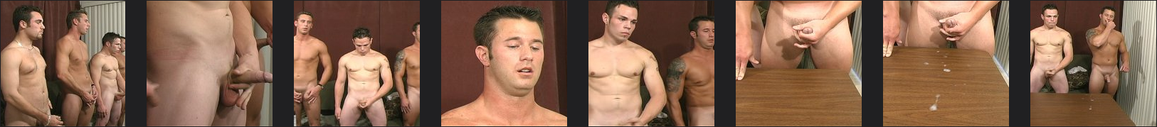 4 straight men jerking off together in a cum shooting contest