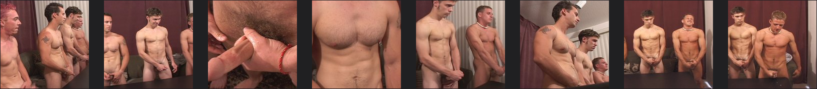 4 horny straight guys cumming together
