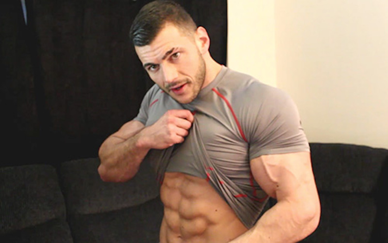 Muscle worship video with Joshua Armstrong