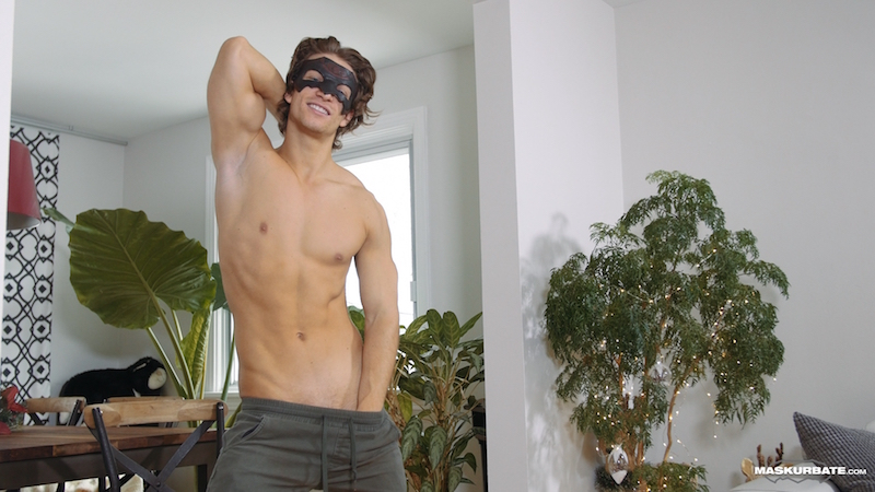 Hung jock with a big uncut cock on video at Maskurbate