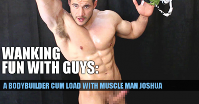 Bodybuilder cum with Joshua Armstrong