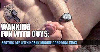 wanking marine cock