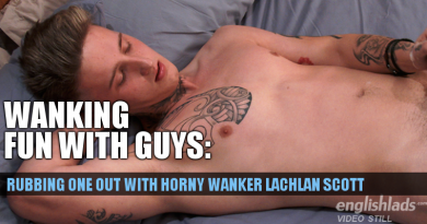 Straight guy Lachlan scott wanking on video