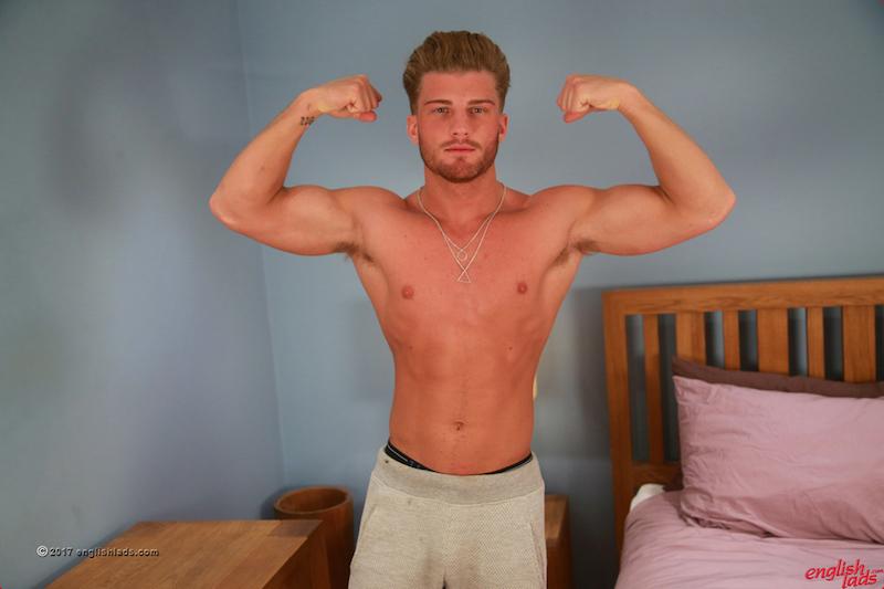 Shirtless straight guy