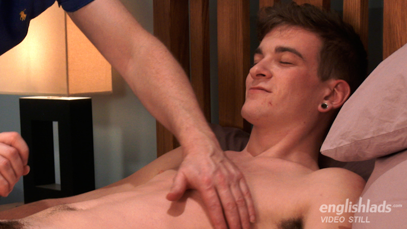 wanking a straight guy on video