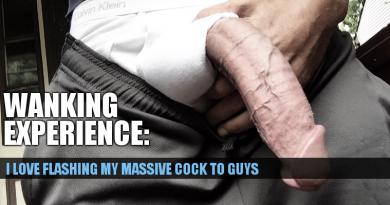 Flashing my massive cock