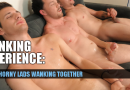 My only time stroking with mates – three guys wanking