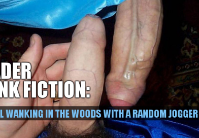 Wanking in the woods with a random jogger