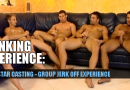 Straight porn stars jerk off together too!