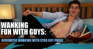Uncut straight guy Paolo Borda wanking at Englishlads