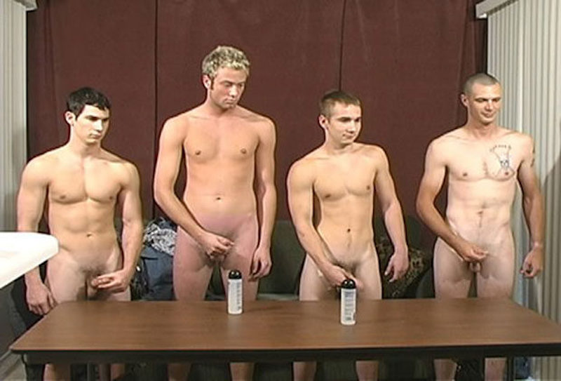 horny straight guys jerking off together