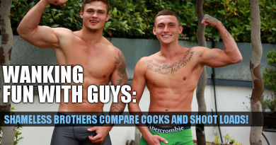 Straight brothers jacking off