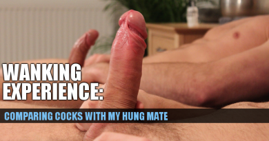 Comparing cocks with my mate got us wanking