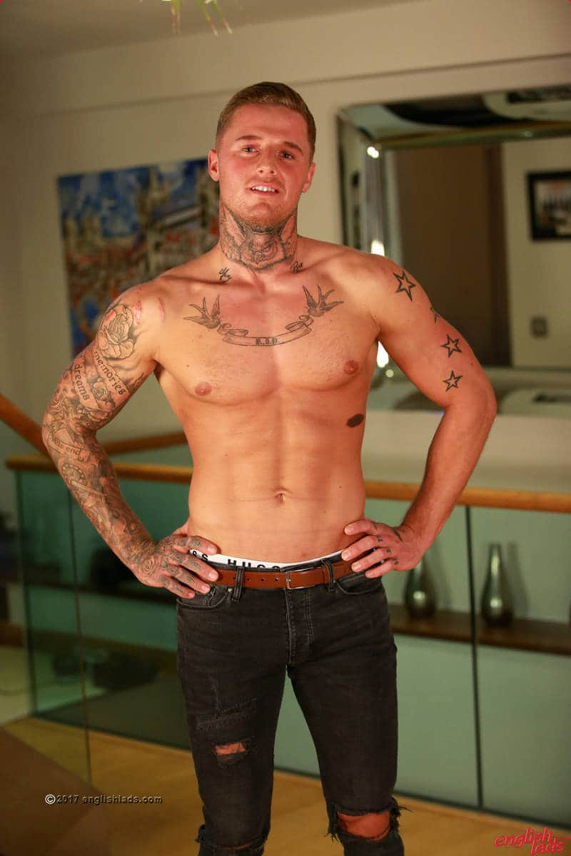 fit straight guy with tattoos