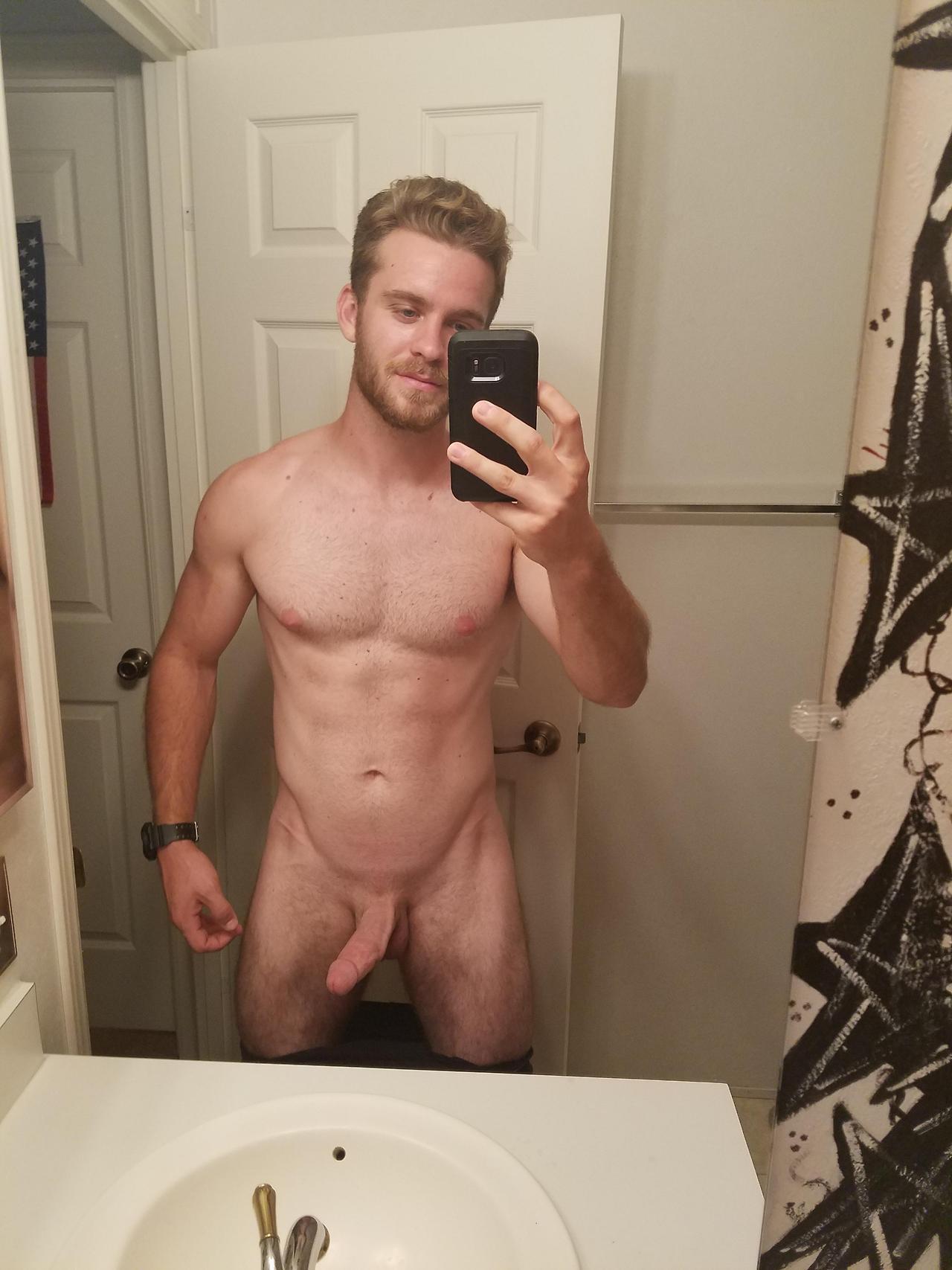 hard cock jock selfie