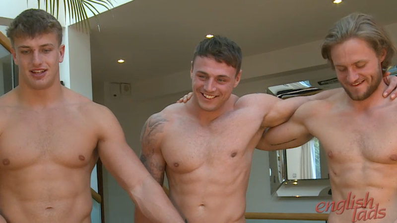 straight guys wanking each other