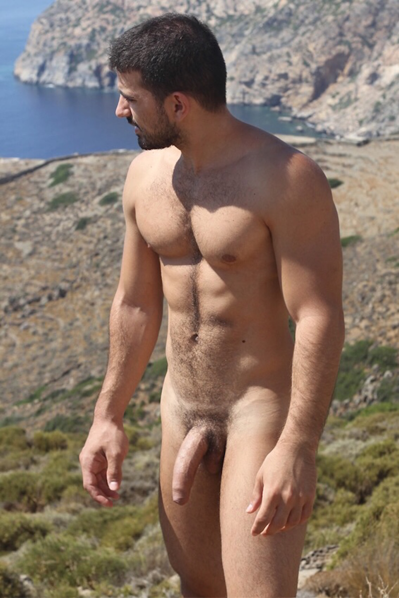 hung and uncut exhibitionist