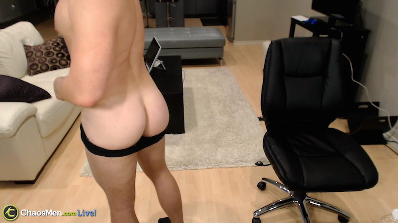 Griffin wanking and eating his own cum on video 2