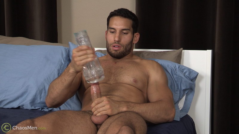 Ricky Decker wanking with a fleshlight 4