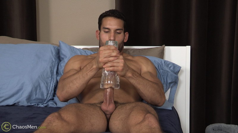Ricky Decker wanking with a fleshlight 5