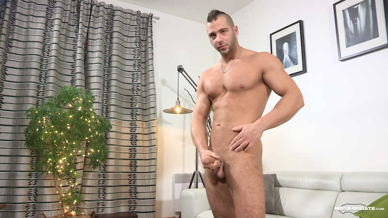 hung uncut cock on a straight guy