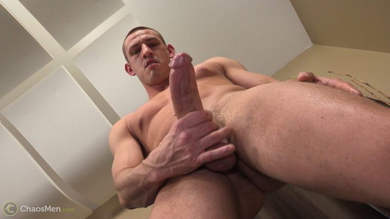 Hung straight guy Kirkland strokes his massive meat 7