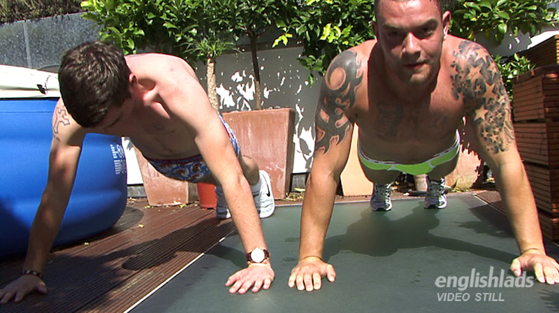 Watch hung Andy Lee wanking with his brother and cumming hard 5