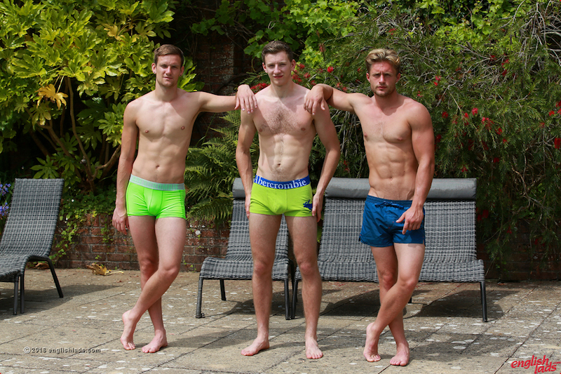 Joel Jenkins, Andrww Hayden and Aaron Janes show off their tight bodies in some boxer shorts