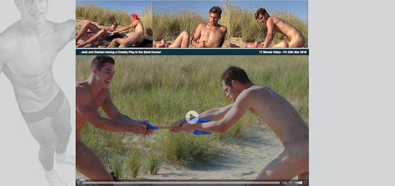 Jack and Damian having a Cheeky Play in the Sand Dunes englishlads