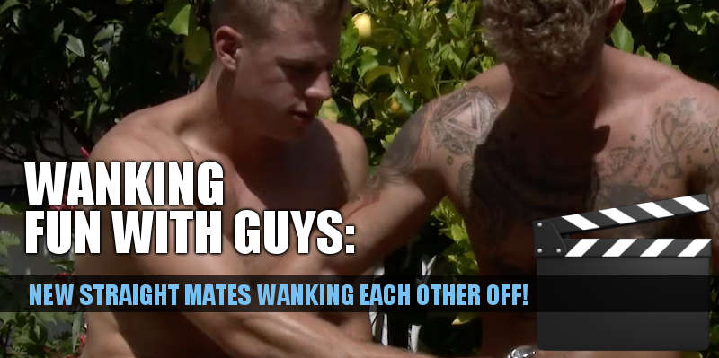 Straight British guys Danny McCaw and Dan Fellows stroke each other's cocks