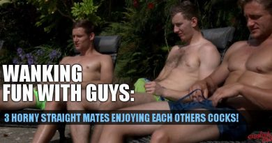3 straight guys wanking and sucking cock